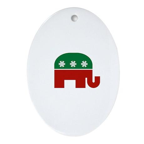 GOP Christmas Oval Ornament