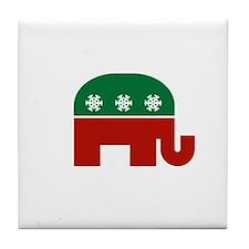 GOP Christmas Tile Coaster