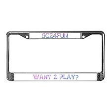 SC24FUN FAN LOGO License Plate Frame