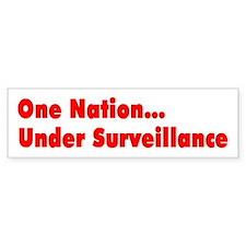 One Nation Under Surveillance Bumper Bumper Sticker