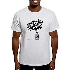 Funky Speaker Tree (Black) T-Shirt