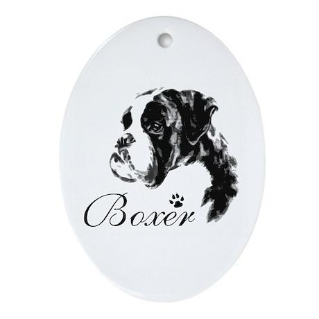 boxer Oval Ornament