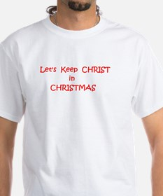 Cafe press lge Lets Keep Christ in CHristma T-Shir