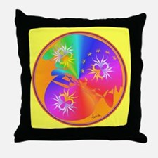 Healing Mandala Throw Pillow