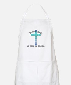 Through Christ all things are BBQ Apron