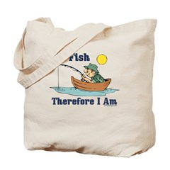 I Fish, Therefore I Am Tote Bag