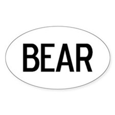Bear - Euro Oval Decal
