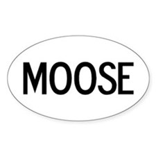 Moose - Euro Oval Decal