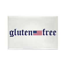 gluten-free (U.S. Flag) Rectangle Magnet