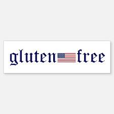 Gluten-Free (u.s. Flag) Bumper Bumper Bumper Sticker