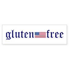 Gluten-Free (u.s. Flag) Bumper Bumper Sticker