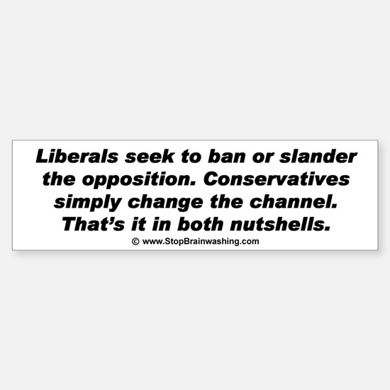 The difference between liberals and conservatives.