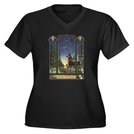 Centaur Women's Plus Size V-Neck Dark T-Shirt