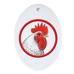 Rooster Circle Oval Ornament