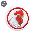 "Rooster Circle 3.5"" Button (10 pack)"