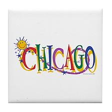 Unique Kids chicago Tile Coaster