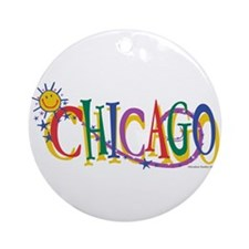 Cute Kids chicago Ornament (Round)