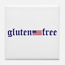 gluten-free (U.S. Flag) Tile Coaster