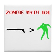 """Zombie Math 101"" Tile Coaster"