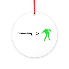 """Zombie Math 101"" Ornament (Round)"