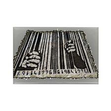 Prison Bar Code Rectangle Magnet