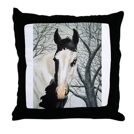 All Black Throw Pillows : Whats Black & White & Rode all over Throw Pillow by whitsoriginals
