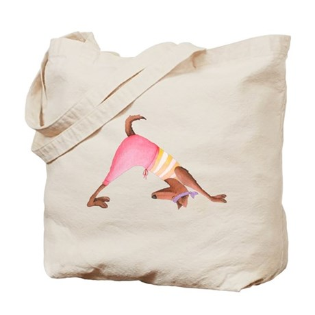Doggie Yoga Tote Bag