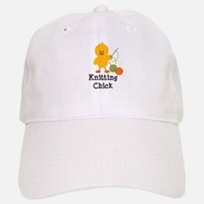 Knitting Chick Baseball Baseball Cap