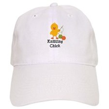 Knitting Chick Baseball Cap