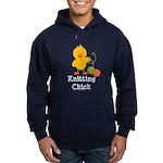 Knitting Chick Hoodie (dark)