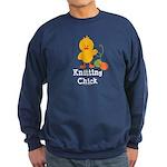 Knitting Chick Sweatshirt (dark)
