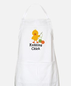 Knitting Chick BBQ Apron