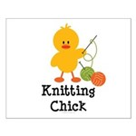 Knitting Chick Small Poster