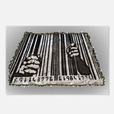 Prison Bar Code Postcards (Package of 8)