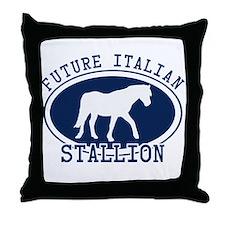 Future Italian Stallion Throw Pillow