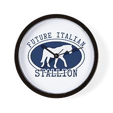 Future Italian Stallion Wall Clock