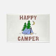 Happy Camper Rectangle Magnet (10 pack)