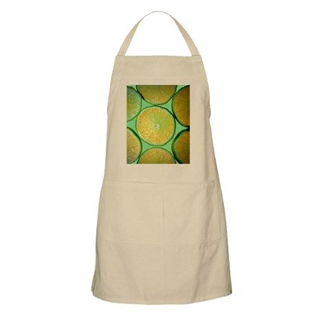 Lime Slices BBQ Apron