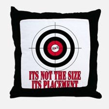 Target Practice Funny Throw Pillow