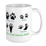 Animal tracks Coffee Mugs