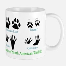Animal Tracks Pawprints Small Small Mug