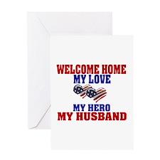 welcome home husband Greeting Card