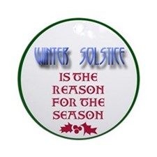 Winter Solstice Ornament (Round)