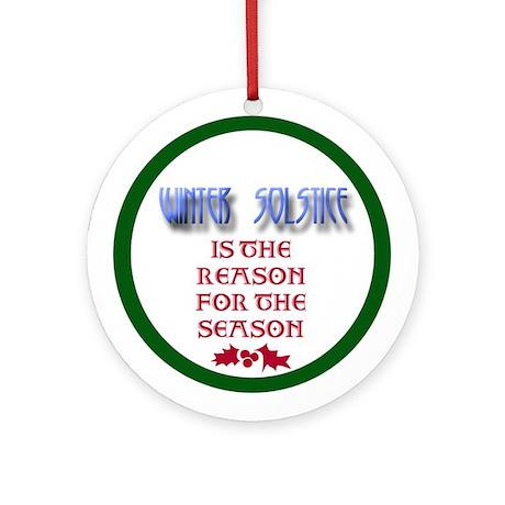 Winter Solstice Ornament (Round)