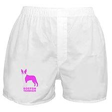 Pink Boston Terrier Boxer Shorts
