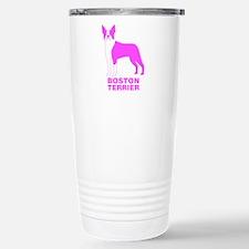 Pink Boston Terrier Travel Mug