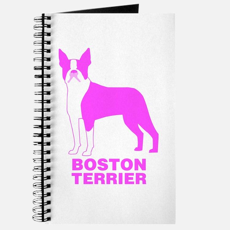 Pink Boston Terrier Journal