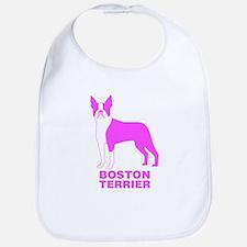 Pink Boston Terrier Bib