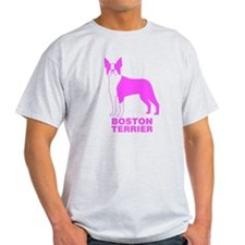 Pink Boston Terrier T-Shirt