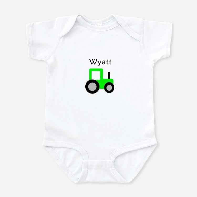 Wyatt - Lime Green Tractor Infant Bodysuit